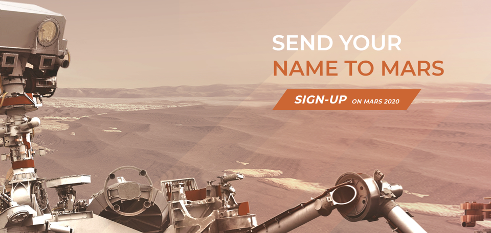 Want your name to go to Mars? NASA gives you a chance!