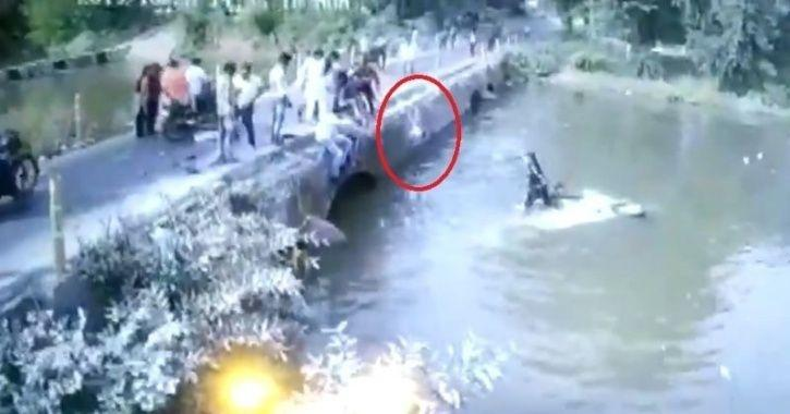 Terrifying Video Shows Man Flinging 6-Month Old Baby From Car, While It Is Sinking Into A River