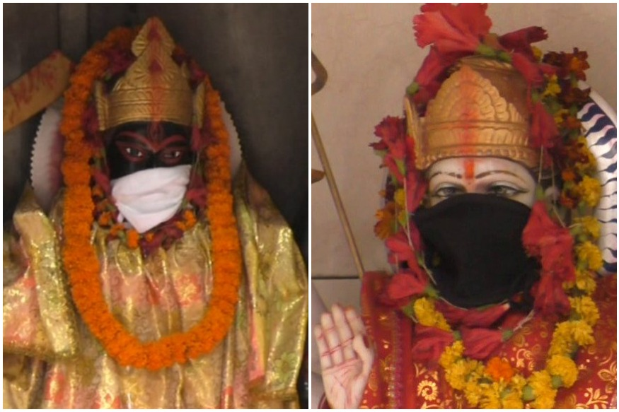 Varanasi Temple Priest Puts Masks on Deities to 'Save' Them from Air Pollution