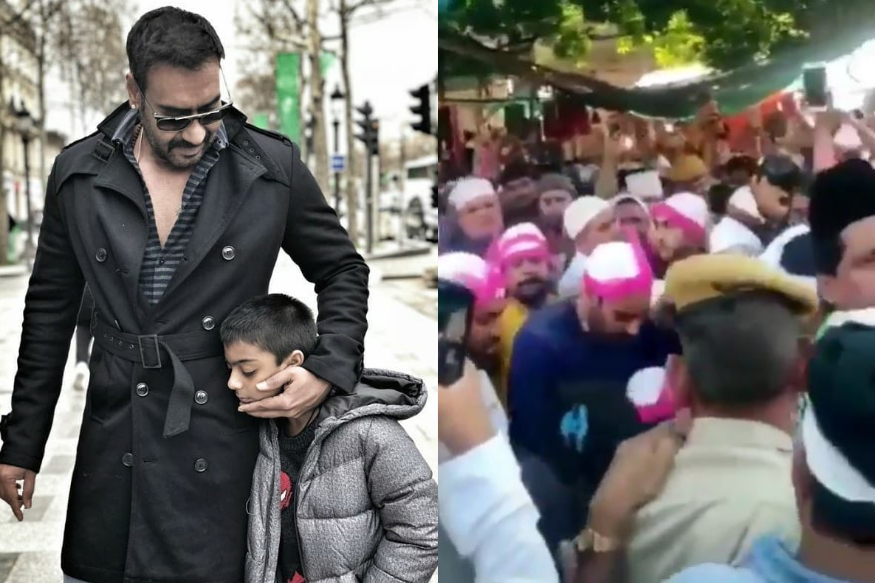 Ajay Devgn, Son Yug Get Mobbed at Ajmer Sharif Dargah, Actor Loses Cool