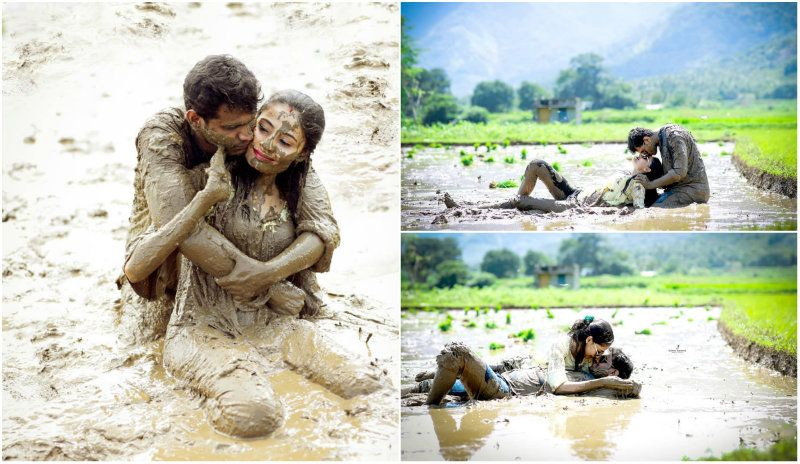 Couple Posing In Mud And Slush For Post-Wedding Shoot Leaves Everyone LOLing