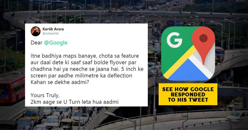 Man Asks For New Maps Feature, Google India Responds With Shayari