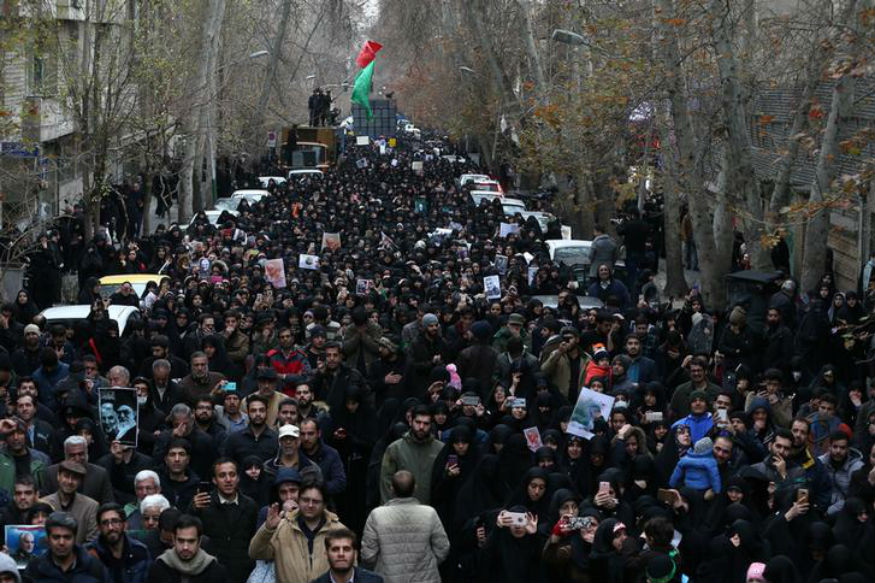 Fury and Tears as Crowds Mourn Iran Commander Killed in US Drone Attack