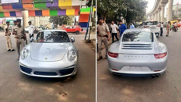 Porsche car owner pays ₹27 lakh penalty to traffic police