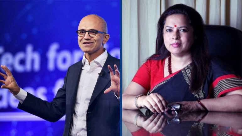 Perfect example on how literate need to be educated: Meenakashi Lekhi on Satya Nadella