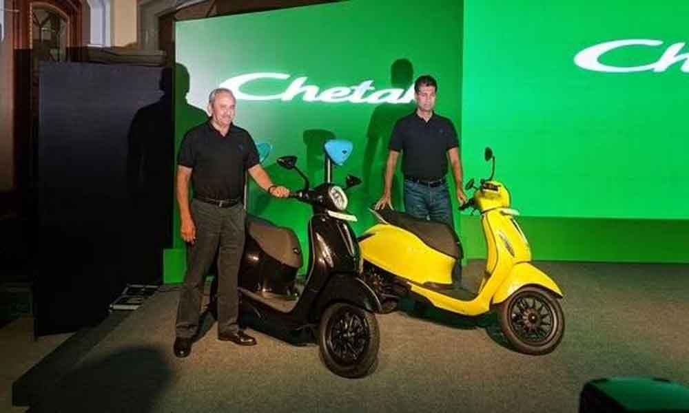Bajaj Auto launches electric Chetak for ₹1 lakh