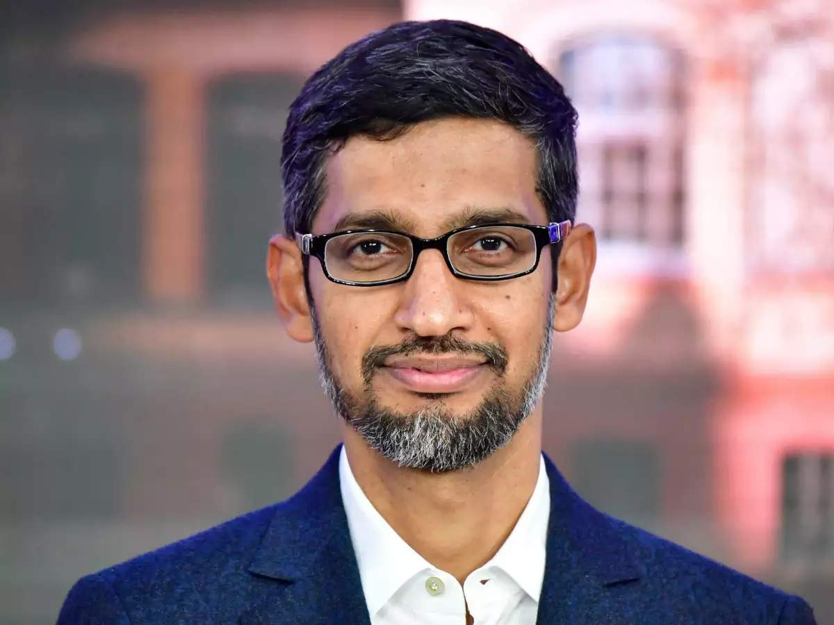 This is Google CEO Sundar Pichai