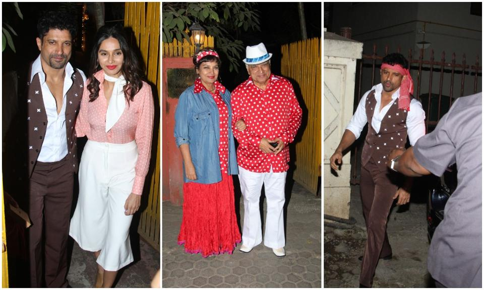 Javed Akhtar's retro-themed birthday bash: Farhan Akhtar comes as Amitabh Bachchan, Aamir Khan attends too