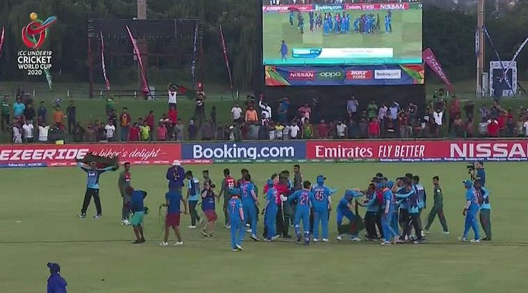 India, Bangladesh players clash after U-19 World Cup finals