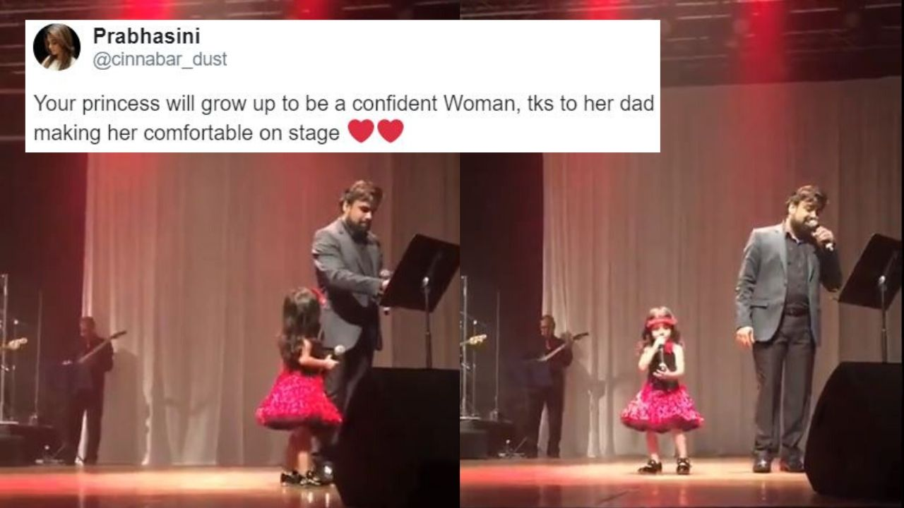 3-YO Girl Interrupts Father's Live Performance, Says She Wants To Sing Along, Watch Video