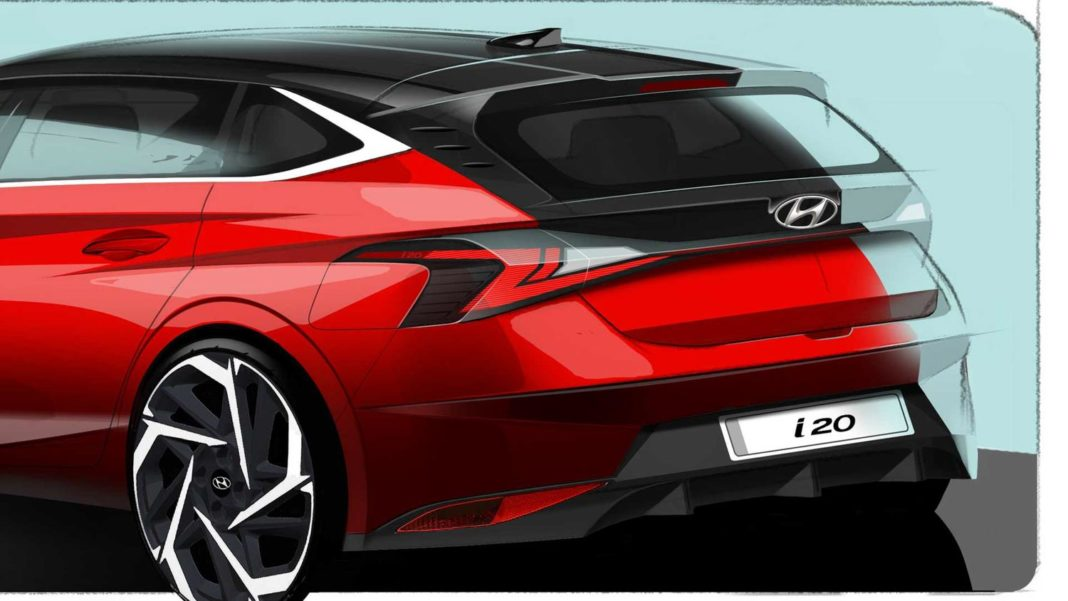 2020 Hyundai i20 Rear Design Sketch Out; Global Debut Next Month