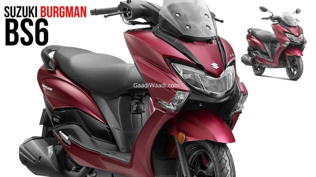 BS6 Suzuki Burgman Street 125 Launched In India At Rs. 77,900