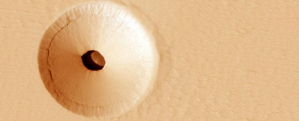 What Is The Deal With This Weird Hole on Mars?