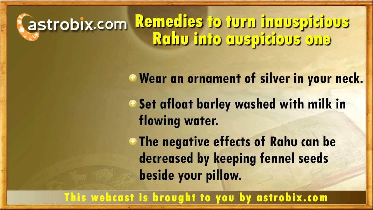 Lal kitab remedies for Rahu - Lal kitab totke for ashubh Rahu