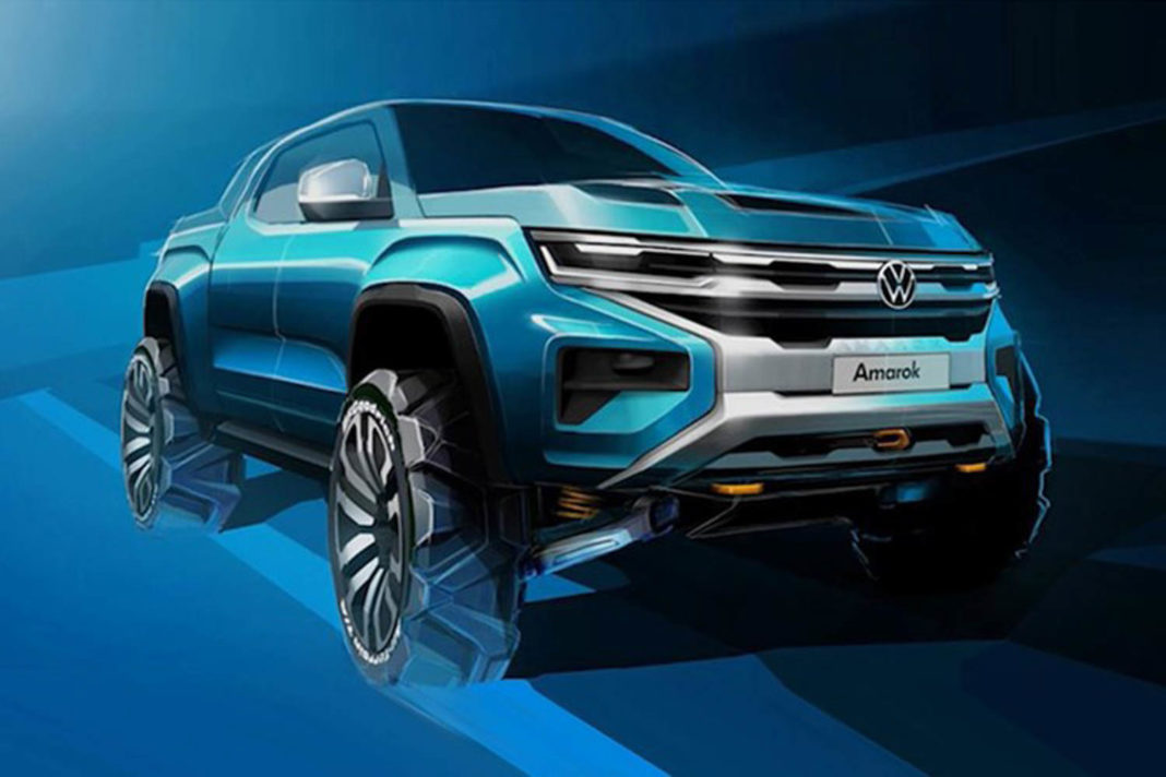 Next-Gen Volkswagen Amarok Pickup Truck Sketch Revealed