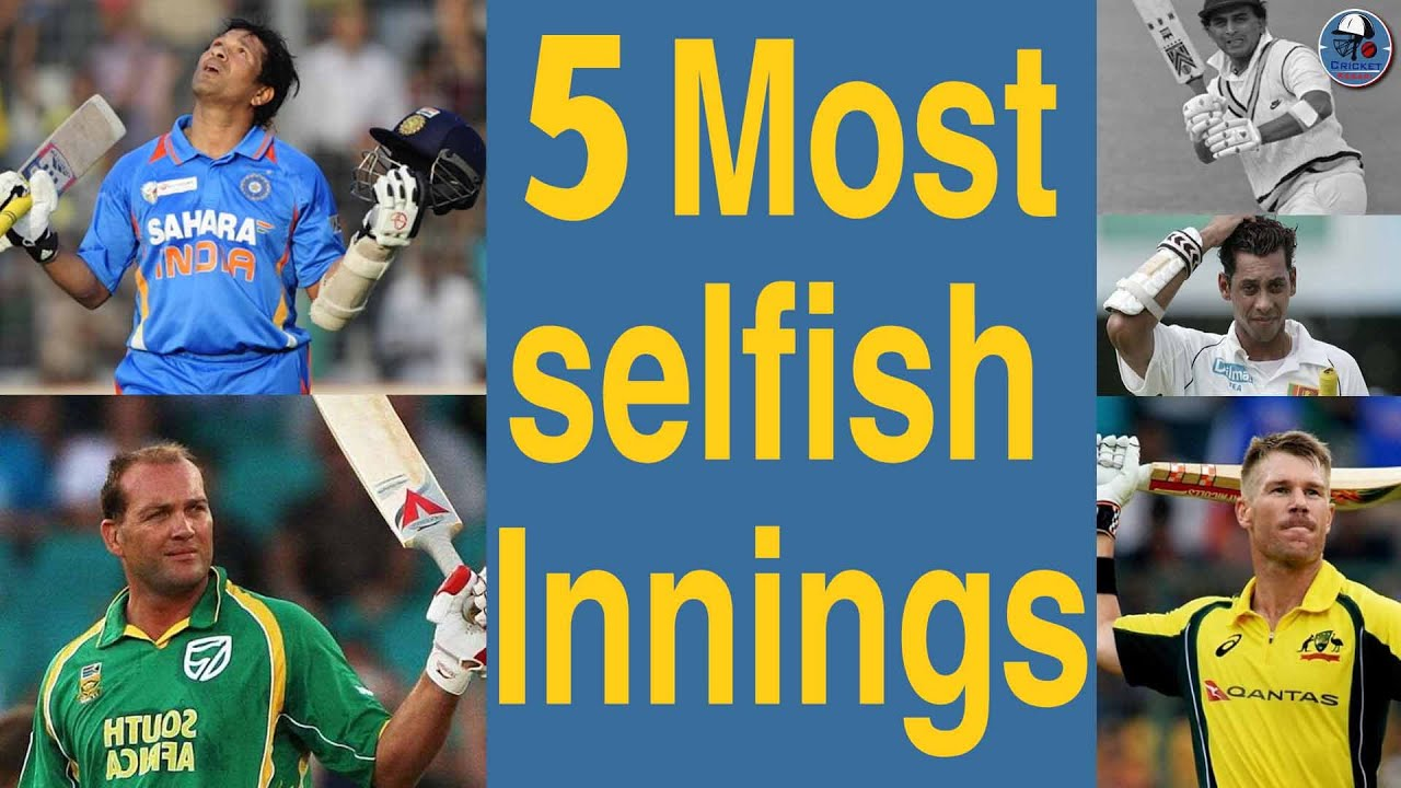 5 Most Selfish Innings In The History Of ODI Cricket