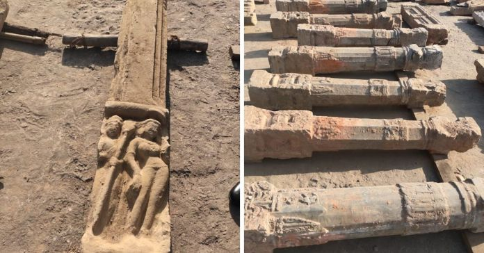 Ancient idols, pillars and Shiv Ling found in Ayodhya near Ram temple construction site [PICTURES]