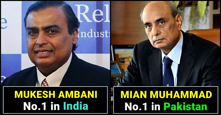 A quick comparison of India's Richest Man and Pakistan's Richest Man