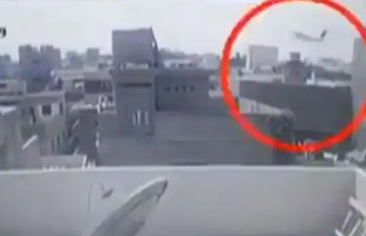 Bodies From the Sky: CCTV Captures Horror as Plane Crashes Into Building in Pakistan