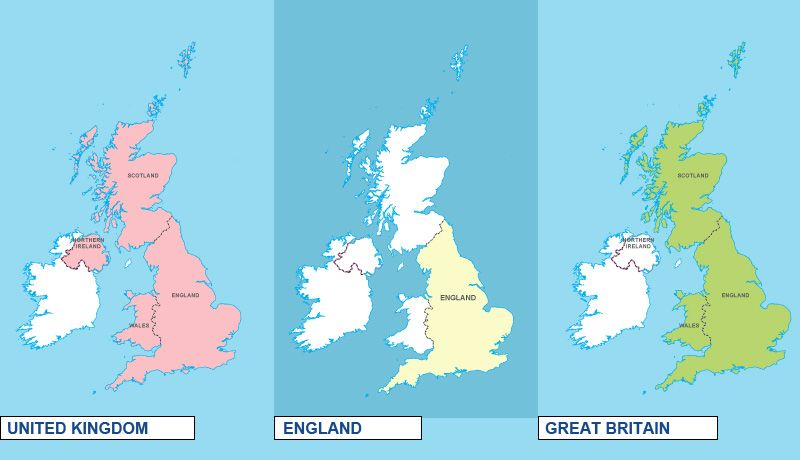 The difference between Britain, Great Britain, the United Kingdom, and the British Isles