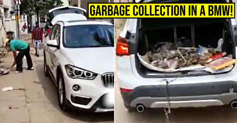 Angry BMW owner in India uses luxury SUV as a garbage truck in protest: Here's why