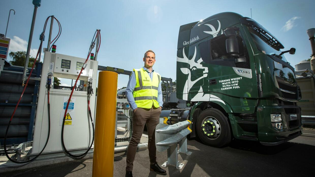 Whisky as fuel? Glenfiddich is running trucks on biogas made from liquor waste