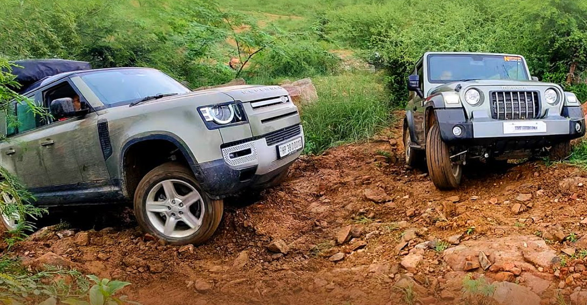 The conditions were wet and that was not helping either. The wheels started losing traction. Defender's ground clearance was increased for this climb but, that did not help in any way. Although the ty