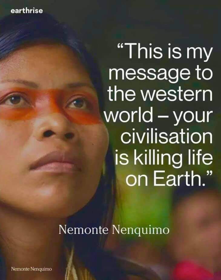 This is my message to the western world - your civilisation is killing life on earth