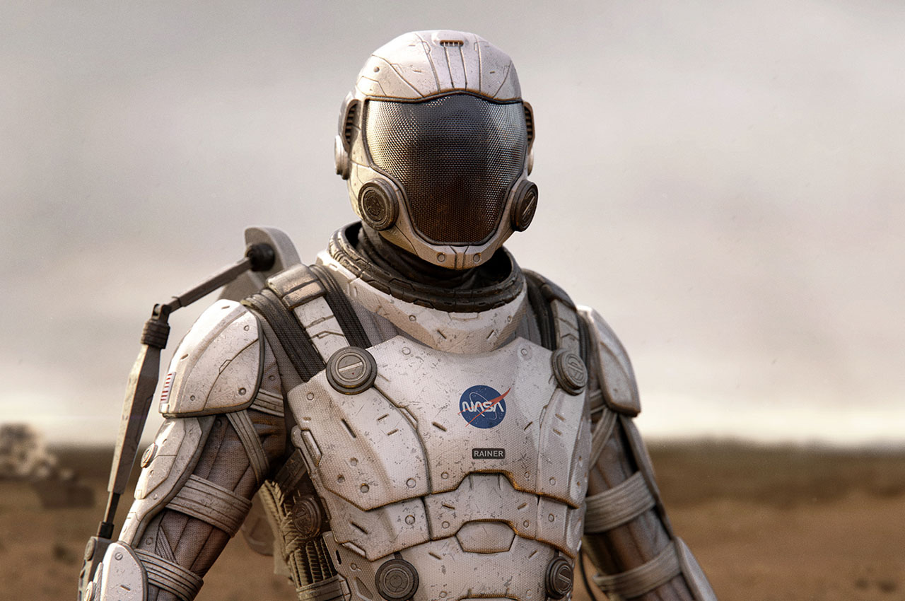 THIS NASA EXOSKELETON SPACESUIT DESIGNED FOR INTER-GALACTIC SPACE EXPLORATION HAS STRONG HALO-INSPIRED VIBES!