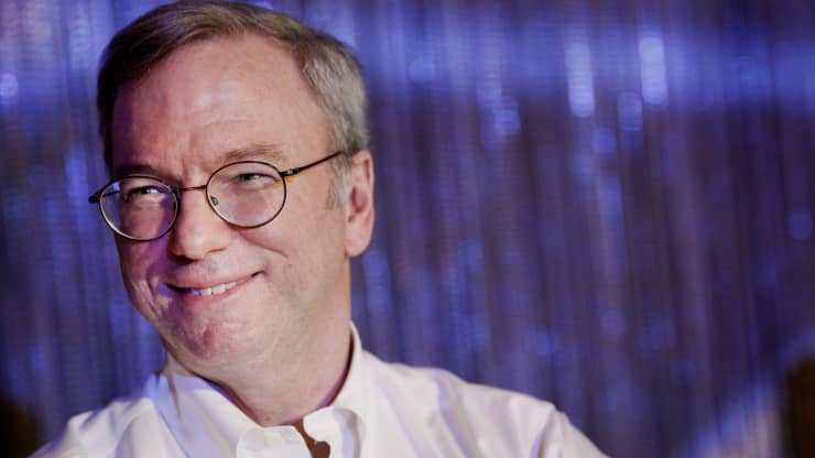 Google billionaire Eric Schmidt: 'Almost anyone who's successful has to start by saying they were lucky'