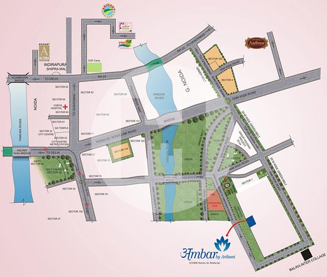 Location Map of Arihant Ambar