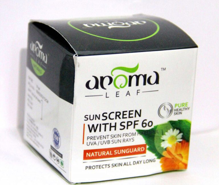 REVIEW OF AROMA LEAF SUNSCREEN WITH SPF 60