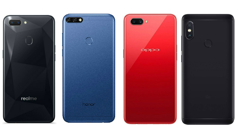 Realme 2 vs Redmi Note 5 Pro vs Oppo A3s vs Honor 7C: Price in India, Specifications Compared