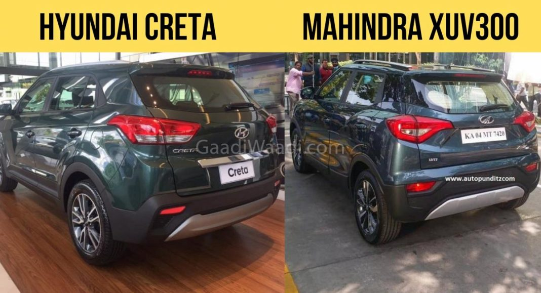 Mahindra XUV300 VS Hyundai Creta Design, Feature Comparison