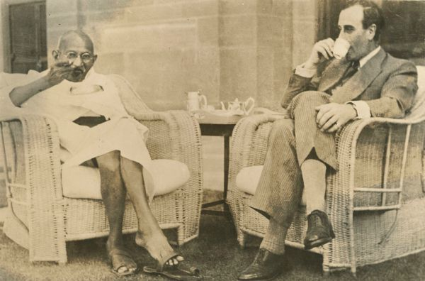 Sometime in the year 1947, Mahatama Gandhi and Lord Mountbatten have a conversation regarding Indian independence