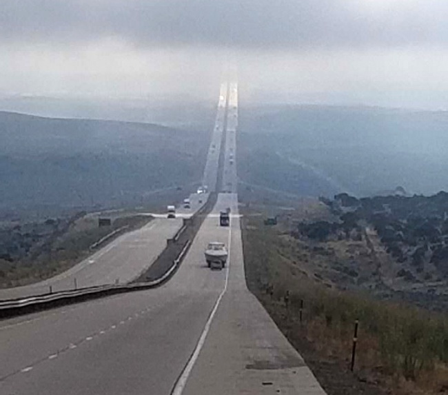 This expressway leads straight into the sky