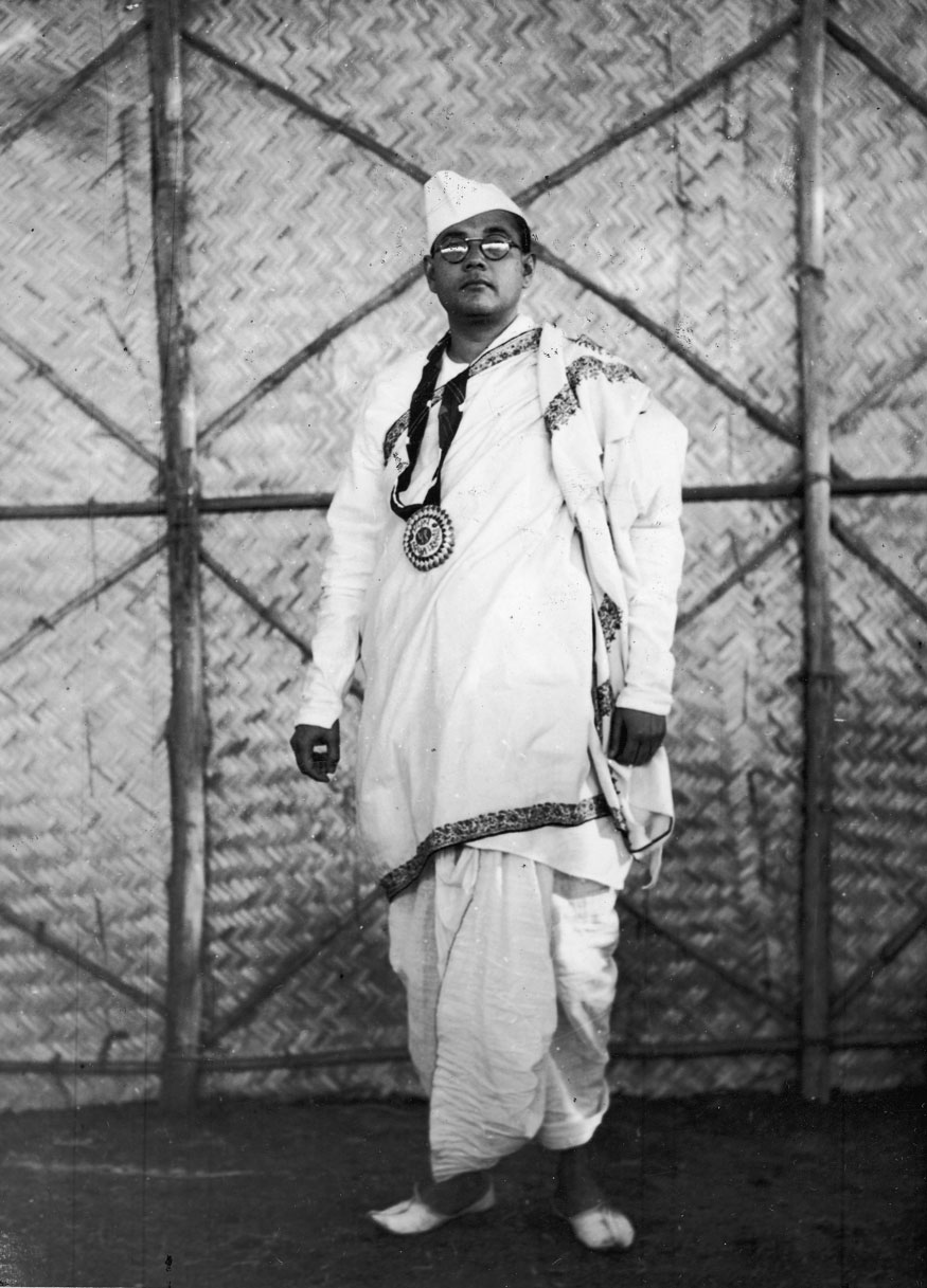 Portrait of Indian nationalist and president-elect of the All-India Congress Subhas Chandra Bose (1897 - 1945), Haripura, India, 1938