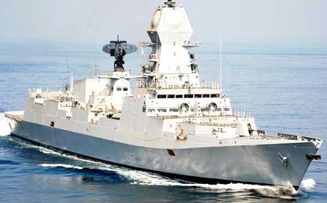 1)INS Kochi (D64) Kolkata-Class Indigenous Made  Warship Destroyer Indian Navy