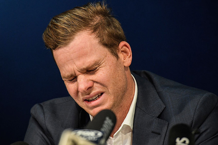 Tainted Australia skipper Steve Smith broke down during his interaction with the media at the Sydney Airport and said that he is