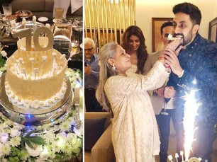 Jaya Bachchan, who turned 70 yesterday, celebrated her birthday with family and close friends in an intimate birthday bash.