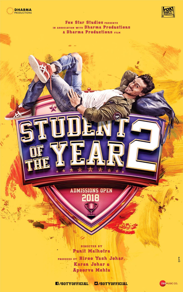 The sequel to Student of the Year stars Tiger Shroff and newcomers Ananya Panday and Tara Sutaria.