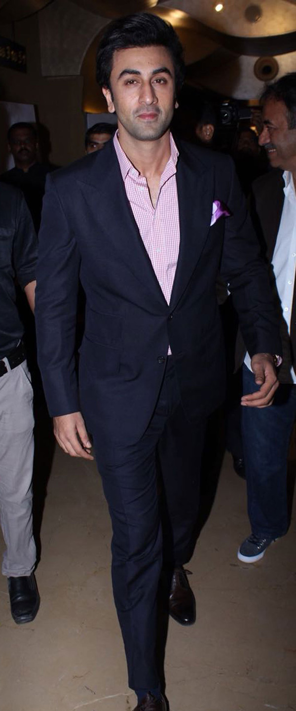 Bollywood actor Ranbir Kapoor arrives at the trailer launch of