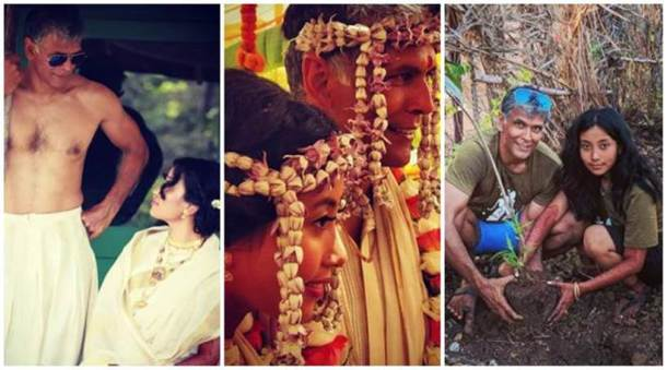 Newlywed couple Milind Soman and Ankita Konwar recently took to Instagram to share photos from their wedding.