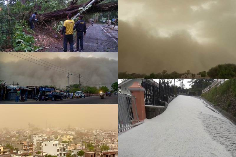 A high-intensity dust storm followed by squall hit Delhi and the NCR on Monday night