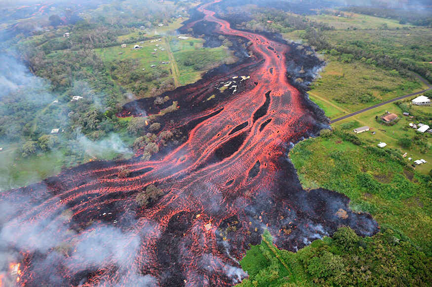 Lava from Kilauea volcano poured into the ocean, creating yet another hazard from an eruption that began few weeks ago