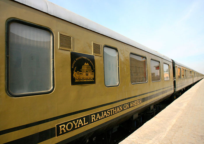 A view of the new luxury train Royal Rajasthan on Wheels (RROW) which was rechristened
