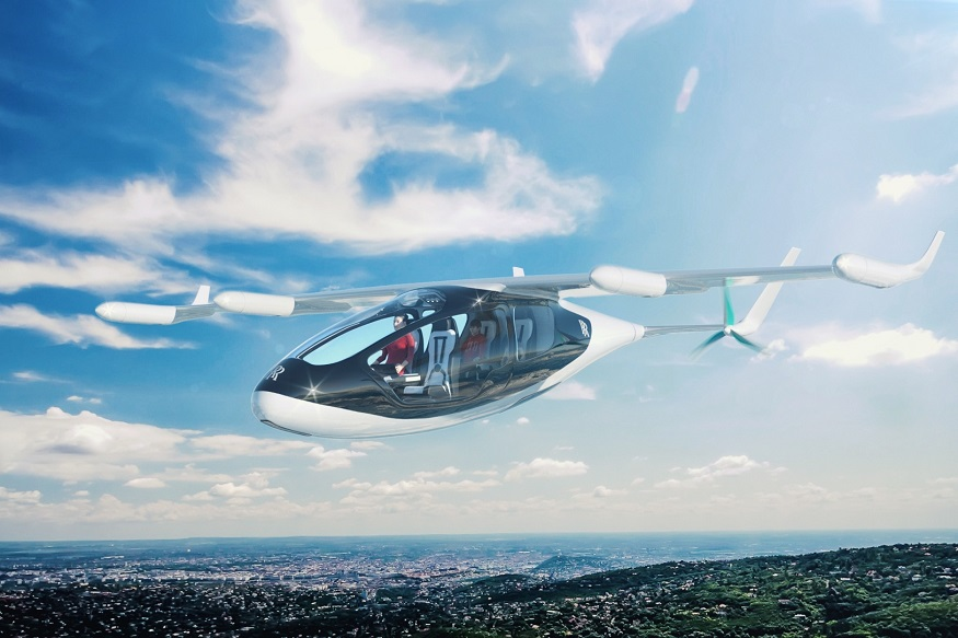 "British carmaker Rolls-Royce revealed the plans to develop a hybrid electric vehicle, dubbed the ""flying taxi"", which takes off and lands vertically at the Farnborough Airshow for the first time, as other players also rush into the market segment."