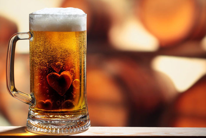 1. Beer is good for the heart.