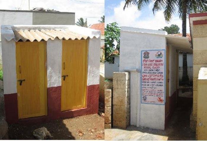 1. Build 5,98,000 school sanitary complexes with proper toilets that remain functional for a while at least.