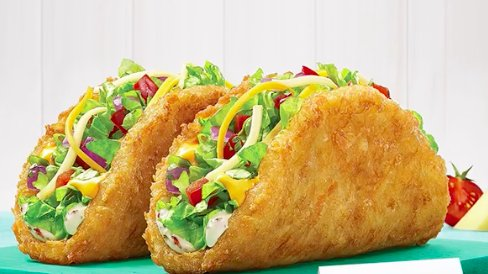1. This Crispy Potaco that uses golden hash browns for the shell and puts heaven on a plate.